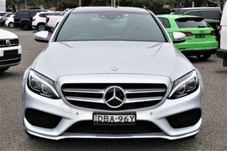 2015 Mercedes-Benz C-Class W205 C250 7G-Tronic + Silver 7 Speed Sports Automatic Sedan.