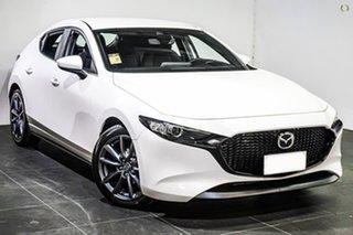 2021 Mazda 3 BP2H7A G20 SKYACTIV-Drive Evolve White 6 Speed Sports Automatic Hatchback.