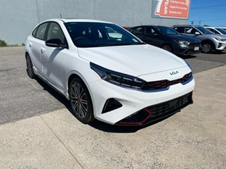 2021 Kia Cerato BD MY22 GT DCT Clear White 7 Speed Sports Automatic Dual Clutch Hatchback.