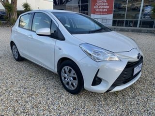 2018 Toyota Yaris NCP130R MY18 Ascent Crystal Pearl 4 Speed Automatic Hatchback.
