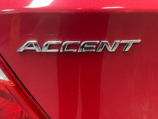 2016 Hyundai Accent RB4 MY17 Active Boston Red 6 Speed Constant Variable Hatchback