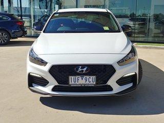 2021 Hyundai i30 PD.V4 MY21 N Line D-CT White 7 Speed Sports Automatic Dual Clutch Hatchback.