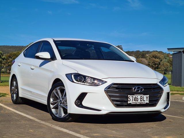 Used Hyundai Elantra AD MY17 Active St Marys, 2015 Hyundai Elantra AD MY17 Active White 6 Speed Sports Automatic Sedan