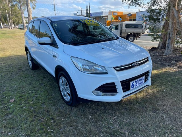 Used Ford Kuga TF MY15 Ambiente 2WD Clontarf, 2014 Ford Kuga TF MY15 Ambiente 2WD White 6 Speed Manual Wagon