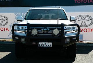 2018 Toyota Landcruiser VDJ200R Sahara Crystal Pearl 6 Speed Sports Automatic Wagon.