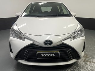2020 Toyota Yaris NCP130R Ascent White 4 Speed Automatic Hatchback.