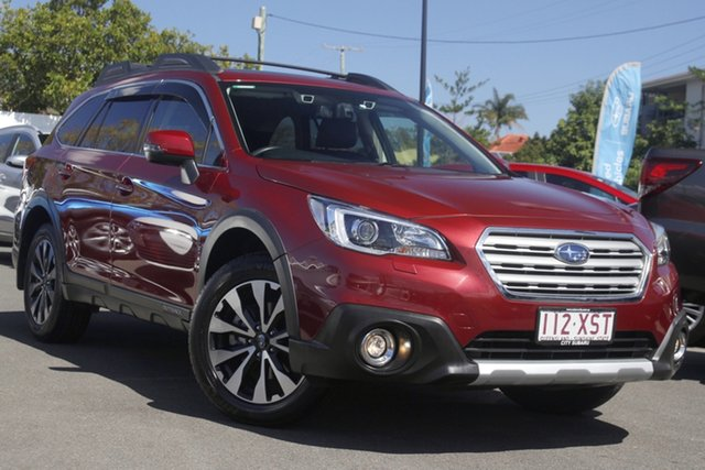 Used Subaru Outback B6A MY18 2.5i CVT AWD Premium Mount Gravatt, 2017 Subaru Outback B6A MY18 2.5i CVT AWD Premium Red 7 Speed Constant Variable Wagon