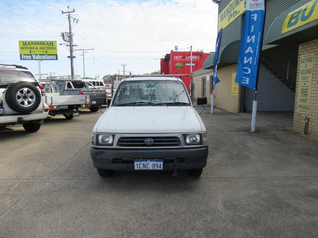 Used Toyota Hilux Mandurah, 2000 Toyota Hilux White 5 Speed Manual Utility