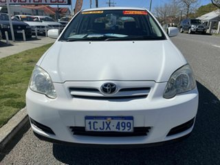 2006 Toyota Corolla ZZE122R Ascent Seca White 4 Speed Automatic Hatchback.