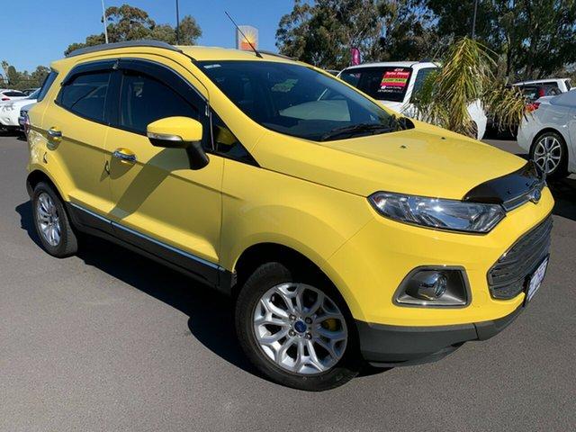 Used Ford Ecosport BK Titanium Bunbury, 2014 Ford Ecosport BK Titanium Yellow 5 Speed Manual Wagon