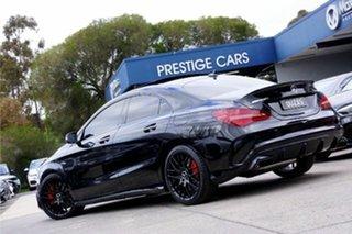 2016 Mercedes-Benz CLA-Class C117 807MY CLA45 AMG SPEEDSHIFT DCT 4MATIC Cosmos Black 7 Speed.