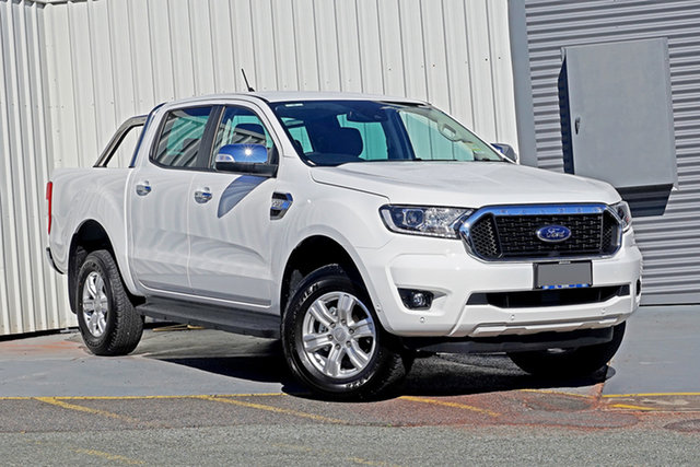 Used Ford Ranger PX MkIII 2021.25MY XLT Springwood, 2021 Ford Ranger PX MkIII 2021.25MY XLT Arctic White 6 Speed Sports Automatic Double Cab Pick Up