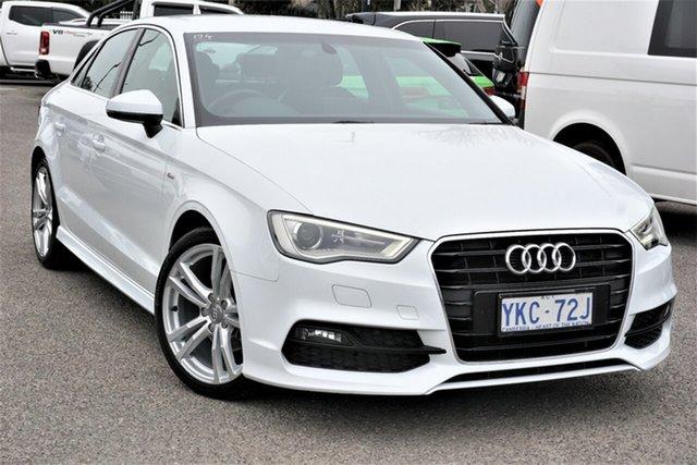 Used Audi A3 8V MY14 Ambition S Tronic Phillip, 2014 Audi A3 8V MY14 Ambition S Tronic White 6 Speed Sports Automatic Dual Clutch Sedan