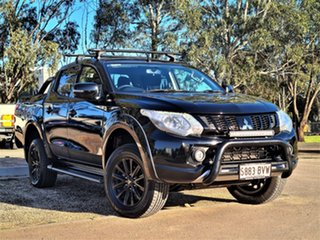 2018 Mitsubishi Triton MQ MY18 GLS Double Cab Black 5 Speed Sports Automatic Utility.
