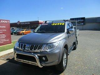 2015 Mitsubishi Triton MQ MY16 GLS Double Cab Silver 5 Speed Sports Automatic Utility.
