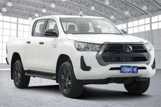 2021 Toyota Hilux GUN126R SR Double Cab White 6 Speed Manual Utility.