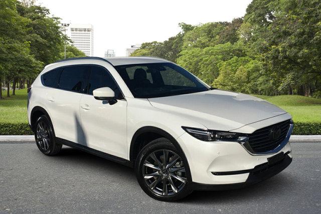 Used Mazda CX-8 KG4W2A Asaki SKYACTIV-Drive i-ACTIV AWD Paradise, 2019 Mazda CX-8 KG4W2A Asaki SKYACTIV-Drive i-ACTIV AWD White 6 Speed Sports Automatic Wagon