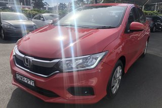 2018 Honda City GM MY19 VTi Red 1 Speed Constant Variable Sedan.