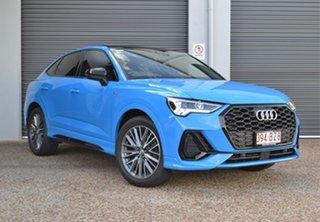 2020 Audi Q3 F3 MY20 35 TFSI Sportback S Tronic Launch Edition Blue 6 Speed.