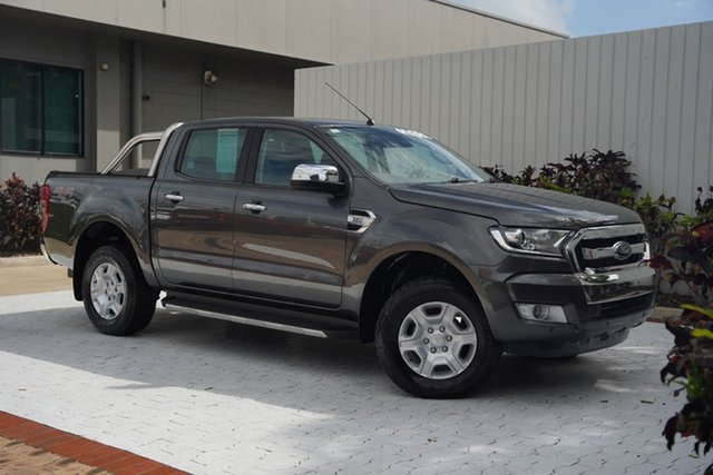 Used Ford Ranger PX MkII XLT Double Cab Cairns, 2017 Ford Ranger PX MkII XLT Double Cab Grey 6 Speed Sports Automatic Utility