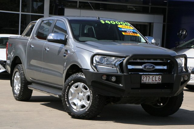 Used Ford Ranger PX MkII XLT Double Cab Beaudesert, 2016 Ford Ranger PX MkII XLT Double Cab Silver 6 Speed Sports Automatic Utility