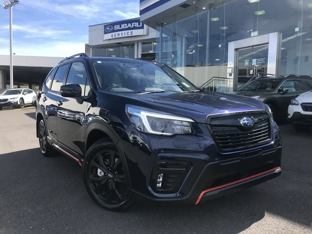 New Subaru Forester S5 MY21 2.5i Sport CVT AWD Brookvale, 2021 Subaru Forester S5 MY21 2.5i Sport CVT AWD Dark Blue Pearl 7 Speed Constant Variable Wagon