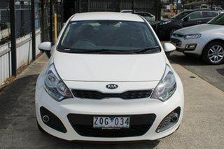 2012 Kia Rio UB MY12 SI White 6 Speed Sports Automatic Hatchback.