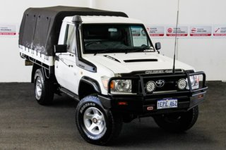 2010 Toyota Landcruiser VDJ79R 09 Upgrade Workmate (4x4) French Vanilla 5 Speed Manual Cab Chassis.