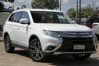 2017 Mitsubishi Outlander ZK MY18 LS 2WD White 6 Speed Constant Variable Wagon.