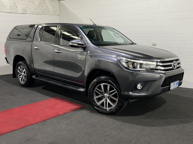 Used Toyota Hilux GUN126R SR5 Double Cab Glenorchy, 2016 Toyota Hilux GUN126R SR5 Double Cab Graphite 6 Speed Sports Automatic Utility