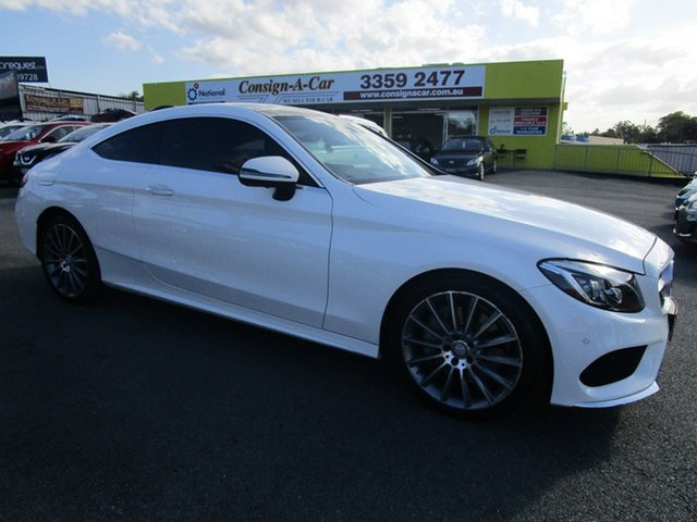 Used Mercedes-Benz C-Class C205 C300 7G-Tronic + Kedron, 2016 Mercedes-Benz C-Class C205 C300 7G-Tronic + White 7 Speed Sports Automatic Coupe