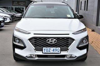 2020 Hyundai Kona OS.3 MY20 Highlander TTR (FWD) Chalk White & Phantom Black Roof 6 Speed Automatic.