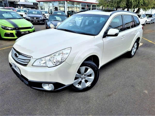 Used Subaru Outback B5A MY12 2.5i Lineartronic AWD Premium Seaford, 2012 Subaru Outback B5A MY12 2.5i Lineartronic AWD Premium White 6 Speed Constant Variable Wagon