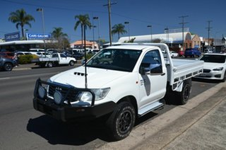 2014 Toyota Hilux KUN26R MY12 SR (4x4) White 5 Speed Manual Cab Chassis