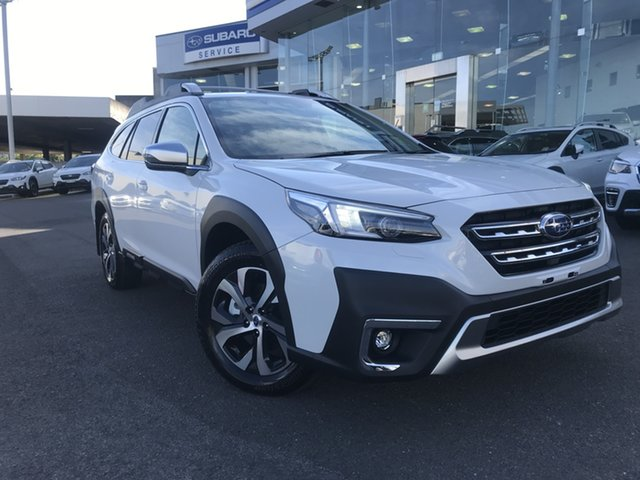 New Subaru Outback B7A MY21 AWD Touring CVT Brookvale, 2021 Subaru Outback B7A MY21 AWD Touring CVT Crystal White 8 Speed Constant Variable Wagon