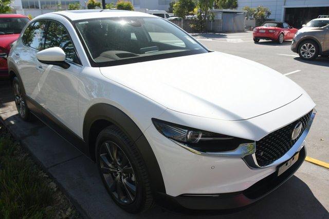 New Mazda CX-30 DM2WLA G25 SKYACTIV-Drive Astina Kirrawee, 2021 Mazda CX-30 DM2WLA G25 SKYACTIV-Drive Astina Snowflake White Pearl 6 Speed Sports Automatic