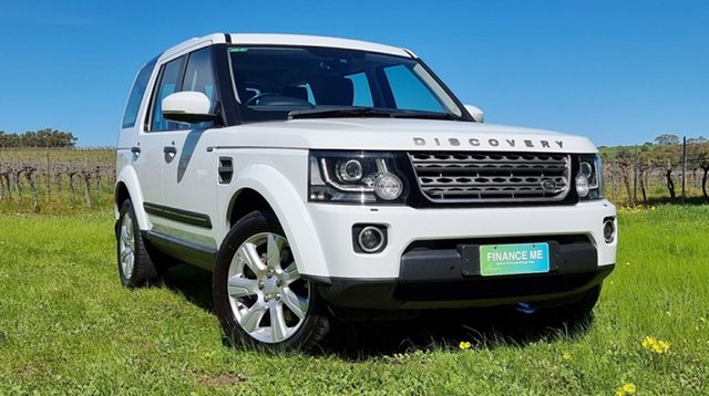 Used Land Rover Discovery Series 4 L319 MY16.5 SDV6 SE Nuriootpa, 2016 Land Rover Discovery Series 4 L319 MY16.5 SDV6 SE White 8 Speed Sports Automatic Wagon