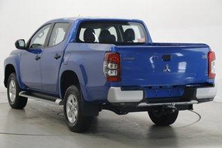 2019 Mitsubishi Triton MR MY19 GLX+ Double Cab Blue 6 Speed Manual Utility.