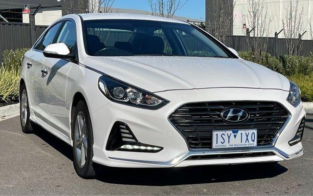Used Hyundai Sonata LF4 MY19 Active Essendon Fields, 2018 Hyundai Sonata LF4 MY19 Active White 6 Speed Sports Automatic Sedan