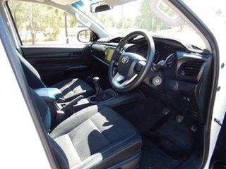 2015 Toyota Hilux GUN126R SR (4x4) Glacier White 6 Speed Manual Dual Cab Utility