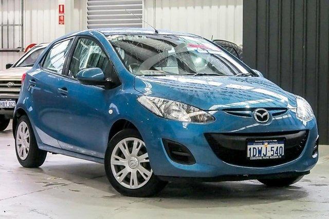 Used Mazda 2 DE10Y2 MY12 Neo Osborne Park, 2012 Mazda 2 DE10Y2 MY12 Neo Blue 4 Speed Automatic Hatchback