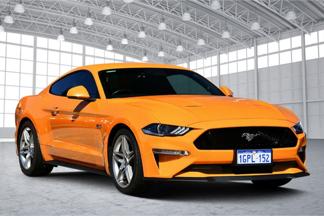 Used Ford Mustang FN 2019MY GT Victoria Park, 2018 Ford Mustang FN 2019MY GT Orange 10 Speed Sports Automatic Fastback