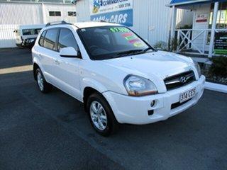 2009 Hyundai Tucson CITY White 4 Speed Automatic Wagon.