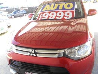 2014 Mitsubishi Outlander ZJ MY14.5 ES 2WD Red 6 Speed Constant Variable Wagon.