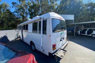 1990 Nissan Civilian W40 White Campervan.