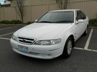 1998 Ford Fairmont EL Ghia White 4 Speed Automatic Sedan.
