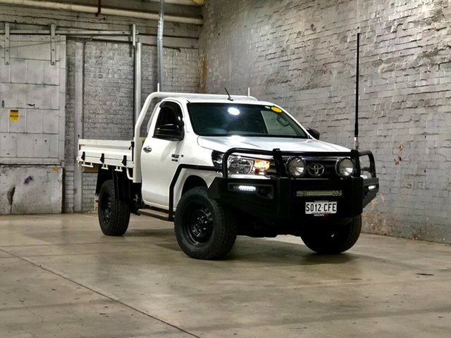 Used Toyota Hilux GUN126R SR Mile End South, 2016 Toyota Hilux GUN126R SR White 6 Speed Sports Automatic Cab Chassis