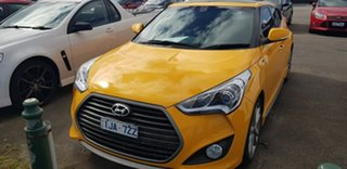 2017 Hyundai Veloster FS5 Series II SR Coupe Turbo Yellow 6 Speed Manual Hatchback.