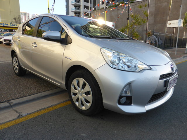 Used Toyota Prius c NHP10R Hybrid Southport, 2014 Toyota Prius c NHP10R Hybrid Silver Continuous Variable Hatchback