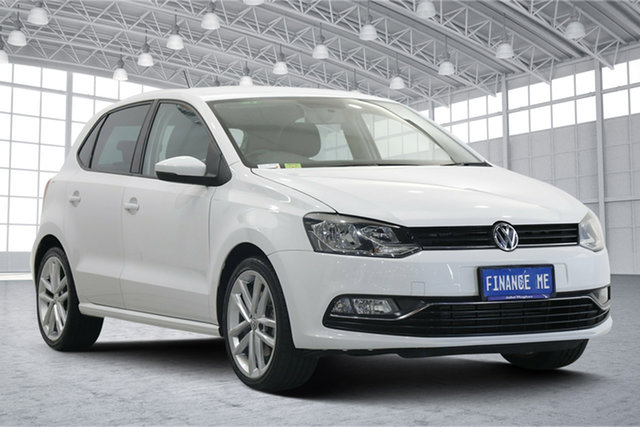 Used Volkswagen Polo 6R MY15 81TSI DSG Comfortline Victoria Park, 2014 Volkswagen Polo 6R MY15 81TSI DSG Comfortline Pure White 7 Speed Sports Automatic Dual Clutch